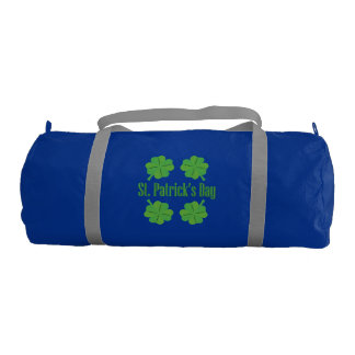 St. Patrick's Day with clover Gym Bag