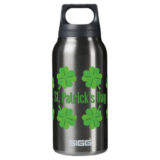 St. Patrick's Day with clover Insulated Water Bottle