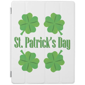 St. Patrick's Day with clover iPad Cover