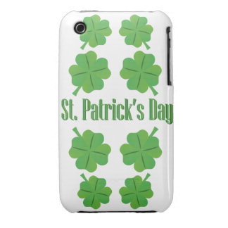 St. Patrick's Day with clover iPhone 3 Case-Mate Cases