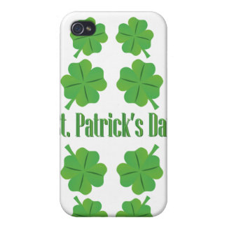 St. Patrick's Day with clover iPhone 4/4S Case
