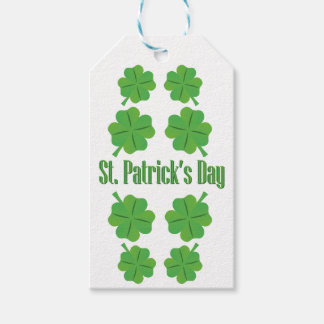 St. Patrick's Day with clover Pack Of Gift Tags