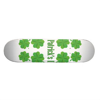 St. Patrick's Day with clover Skateboard Decks