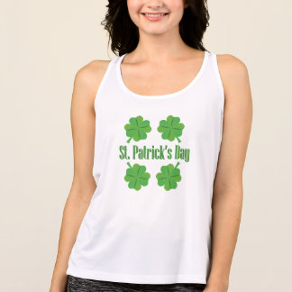 St. Patrick's Day with clover Tank Top