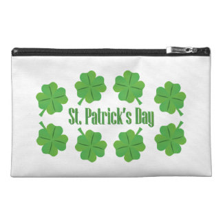 St. Patrick's Day with clover Travel Accessory Bags