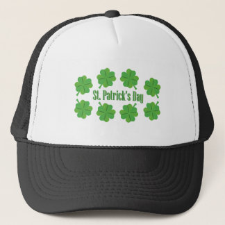 St. Patrick's Day with clover Trucker Hat