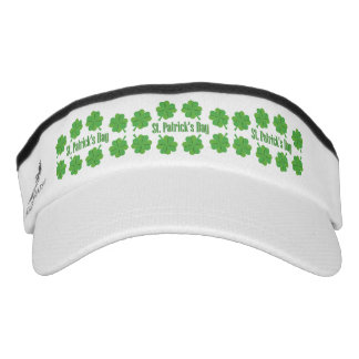 St. Patrick's Day with clover Visor