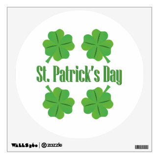 St. Patrick's Day with clover Wall Decal