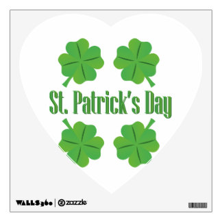 St. Patrick's Day with clover Wall Sticker