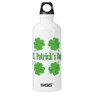 St. Patrick's Day with clover Water Bottle