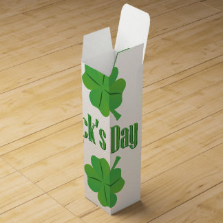 St. Patrick's Day with clover Wine Box