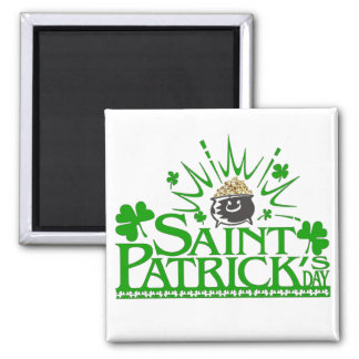 St. Patrick's Gold Pot Magnet