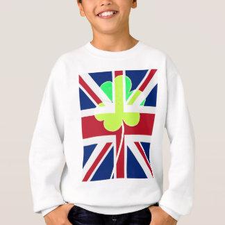 St.Patrick Shamrock Clover UK Flag Ireland Sweatshirt
