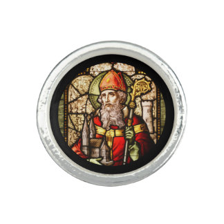 St Patrick Stained Glass Ring