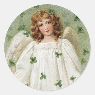 St Patricks Angel bringing you good luck Sticker