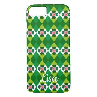 St. Patrick's Argyle With Lucky Pig iPhone 8/7 Case