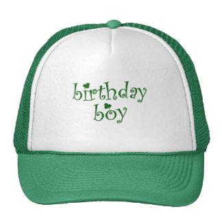 St Patrick's Birthday Boy with Shamrocks Mesh Hats
