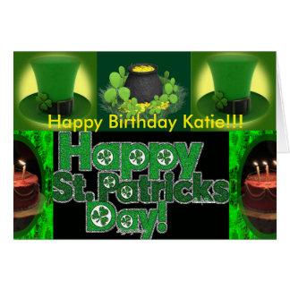 St Patrick's Birthday Card