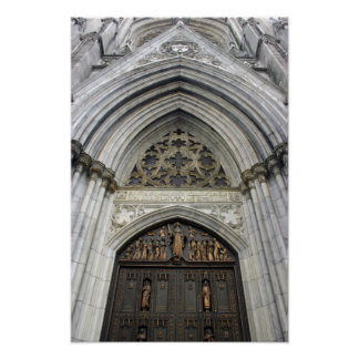 St.Patricks Cathedral in New York City Poster
