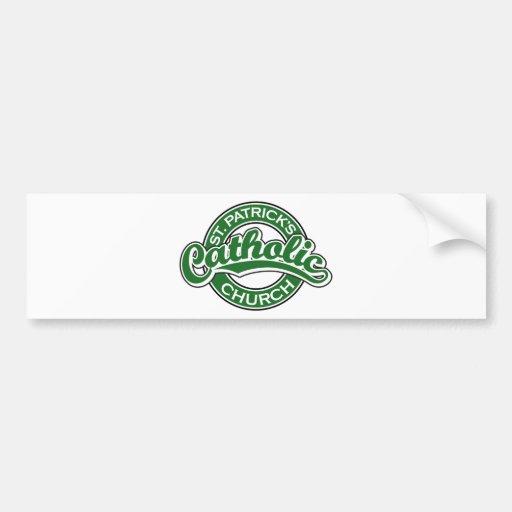 St. Patrick's Catholic Church Green Bumper Stickers