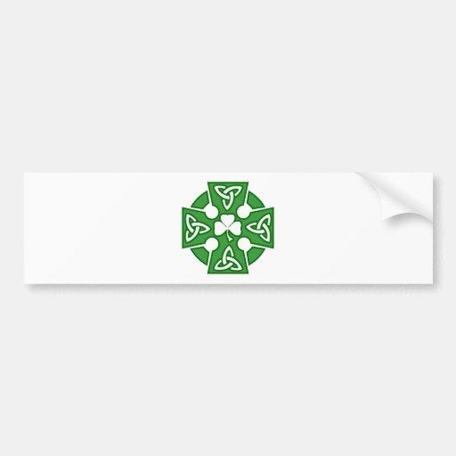 St Patrick's Celtic cross Bumper Sticker