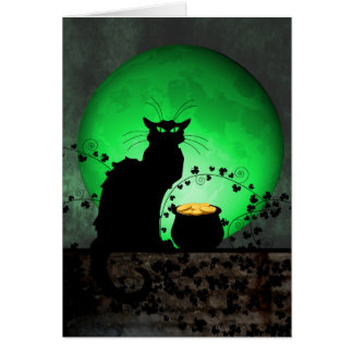 St. Patrick's Chat Noir Card