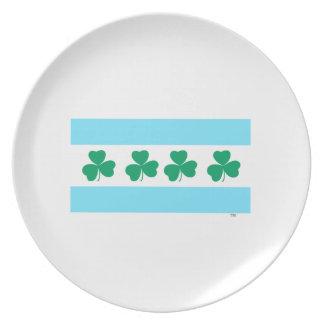 St Patrick's Chicago Dye the River Green Dinner Plates