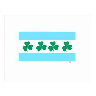 St Patrick's Chicago Dye the River Green Postcard
