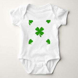 st patricks clover emoji baby bodysuit