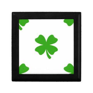 st patricks clover emoji gift box