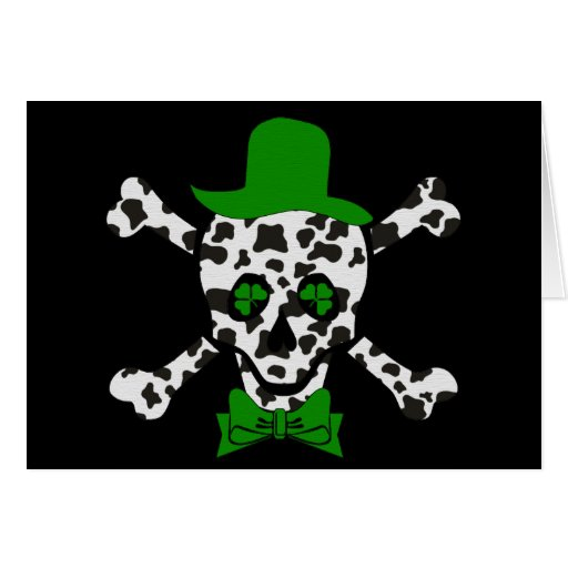St. Patrick's Cow Skull Greeting Card