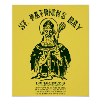 St. Patrick's Day 17 March 2018 Poster