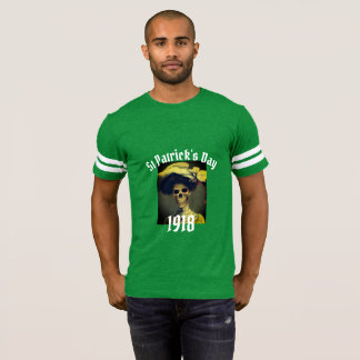 St Patrick's Day 1918 skeleton T-shirt