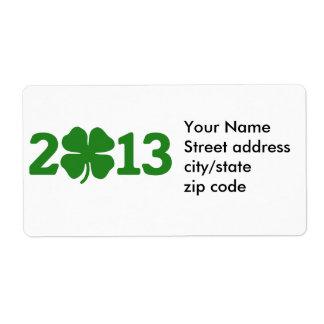 St Patricks Day 2013 Shipping Label