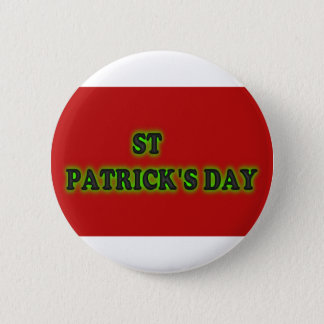 st patrick's day , 2¼ Inch Round Button