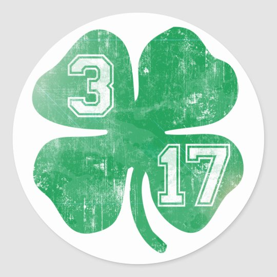 St. Patricks Day 3/17 Irish Shamrock Classic Round Sticker