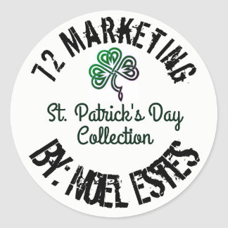 St. PATRICK'S DAY 72 MARKETING COLLECTION Round Sticker