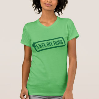St Patrick's Day A Wee Bit Irish Ladies Green T T-Shirt