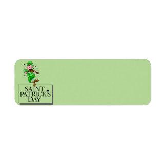 St. Patrick's Day Address Label