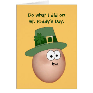 St. Patrick's Day adult humor Note Card