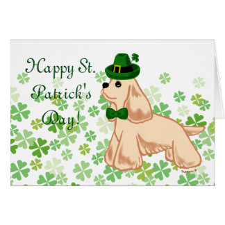 St. Patrick's Day American Cocker Spaniel Card