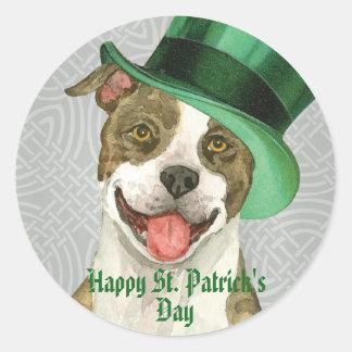 St. Patrick's Day APBT Round Sticker