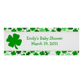 ST PATRICK'S DAY Baby Shower /  Birthday Banner Poster