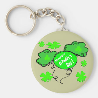 St Patrick's Day Balloons Basic Round Button Keychain