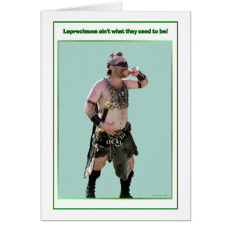 St. Patrick's Day Barbarian Leprechaun Card