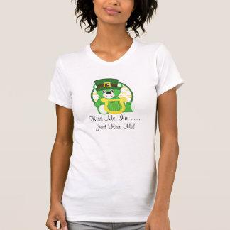St. Patrick's Day Bear Kiss Me Tshirts
