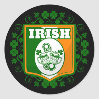 St Patrick's Day Beer Classic Round Sticker