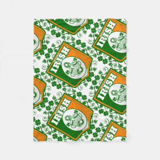 St Patrick's Day Beer Fleece Blanket