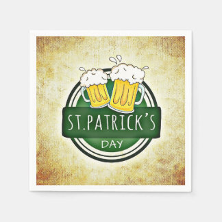 St. Patrick's Day Beer Mugs Disposable Napkin