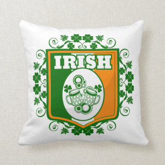 St Patrick's Day Beer Throw Pillow